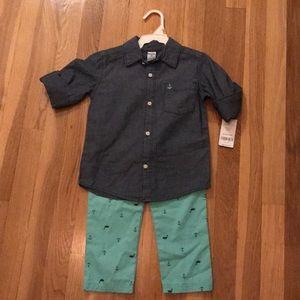 Tags still on, carters 2 piece 3T set